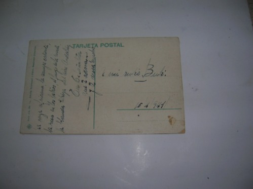 antigua tarjeta postal granada generalife patio d la acequia