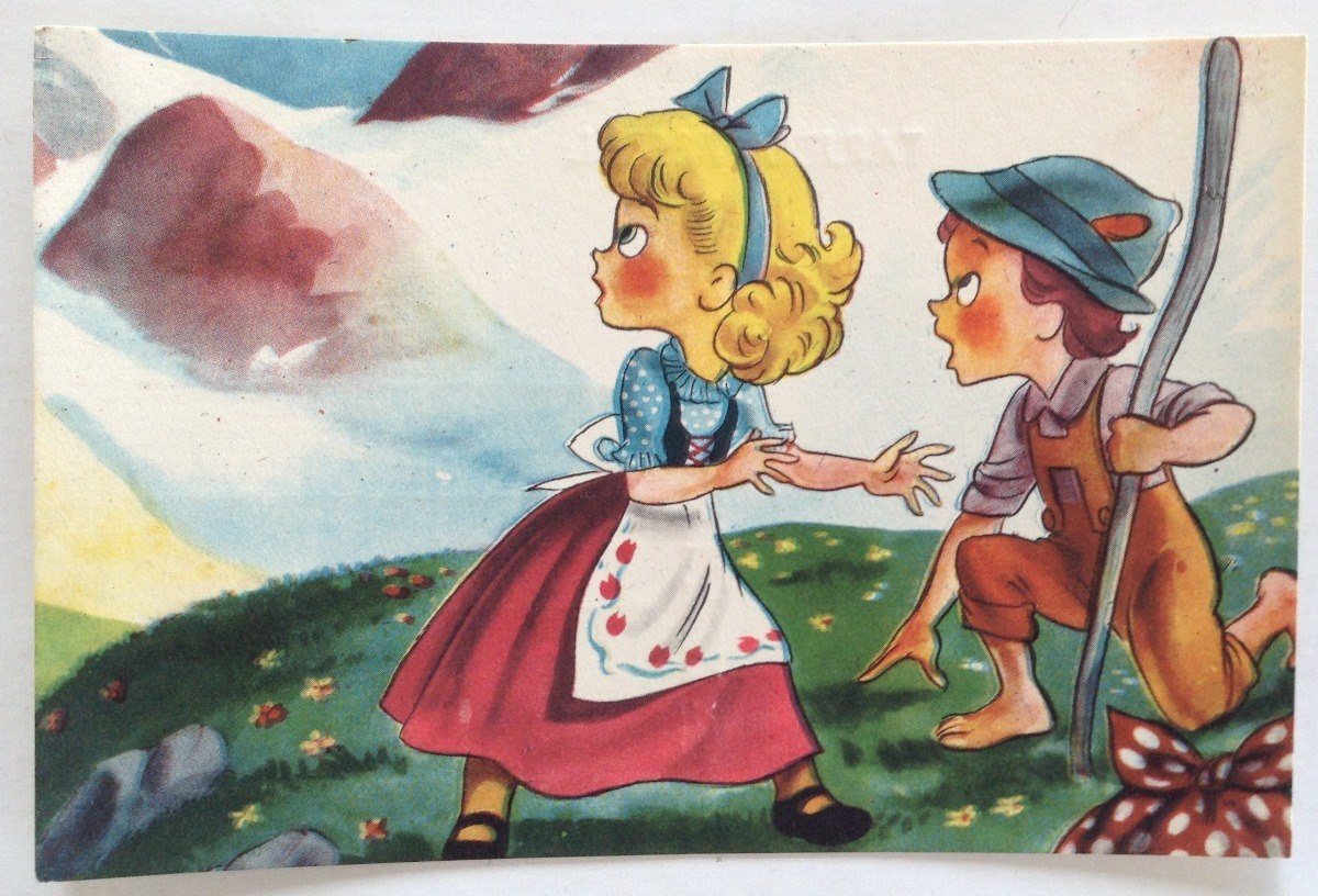 Tarjeta postal infantil