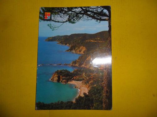 antigua tarjeta postal san feliu de guixols escudo