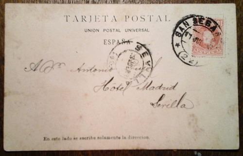 antigua tarjeta postal san sebastián españa circa 1900