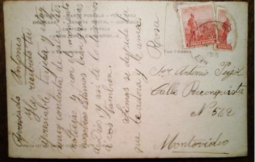 antigua tarjeta postal venecia puente de los suspiros 1919