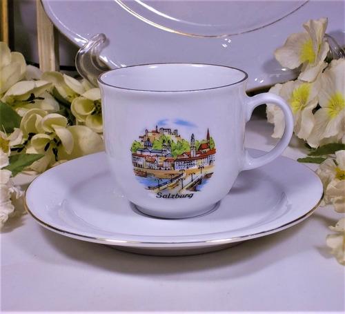 antigua taza de café  bavaria salzburg  año 1950 colección