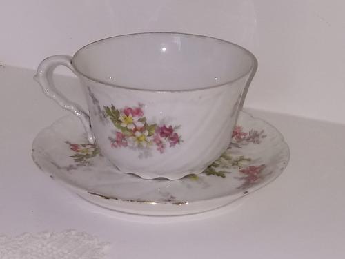antigua taza de té limoges
