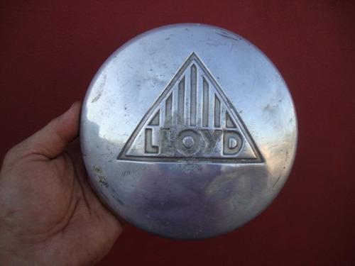 antigua taza lloyd en aluminio
