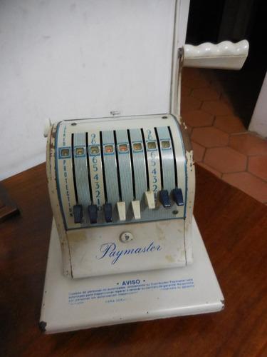 antigua troqueladora de cheques paymaster