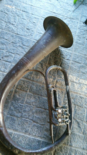antigua tuba italiana vintage intrumento musical