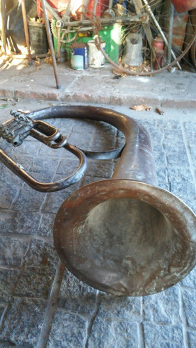 antigua tuba italiana vintage intrumento musical