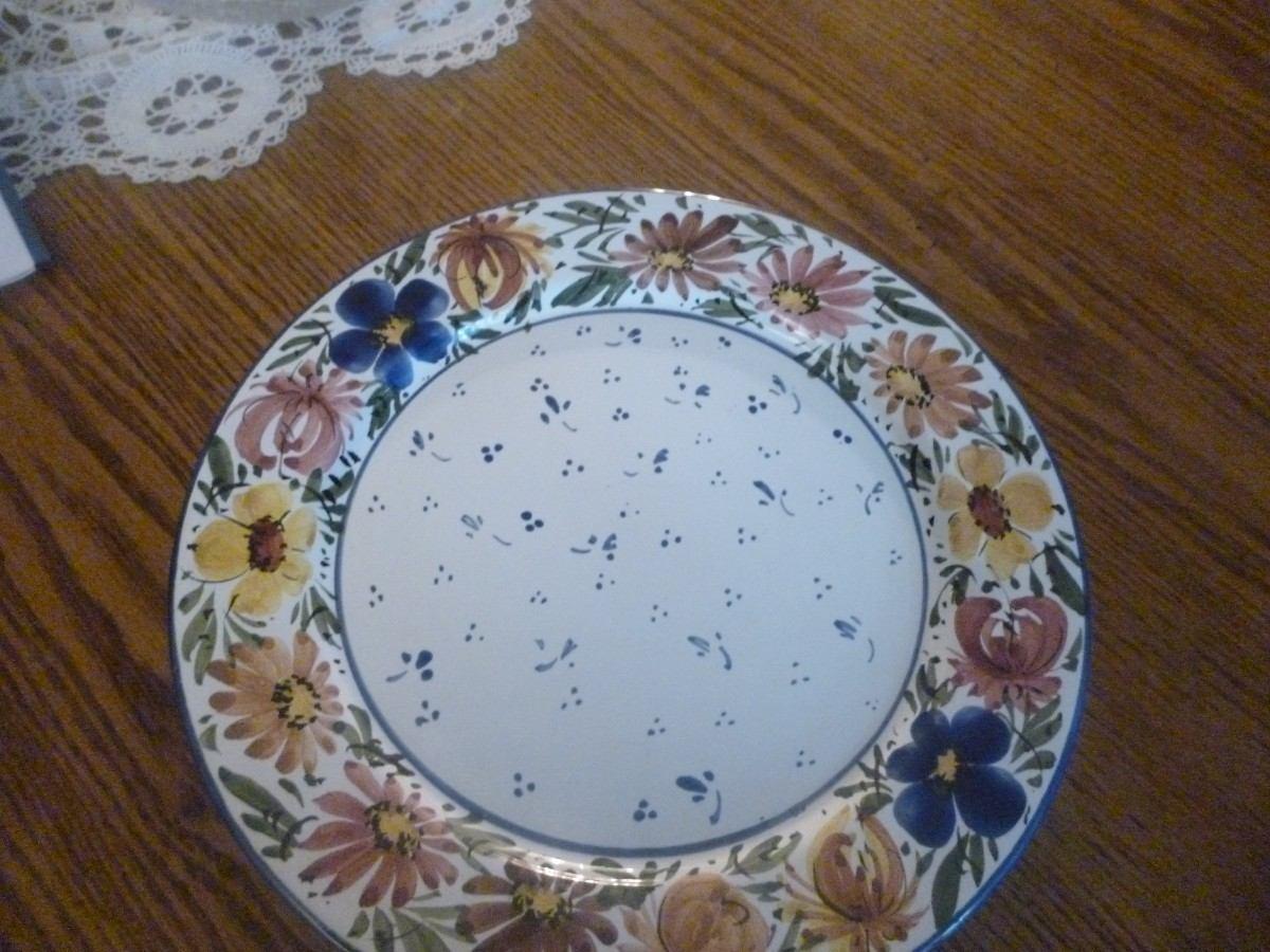 Plato cala hermosa ceramica antigua 26 cm loza vajilla for Platos vajilla