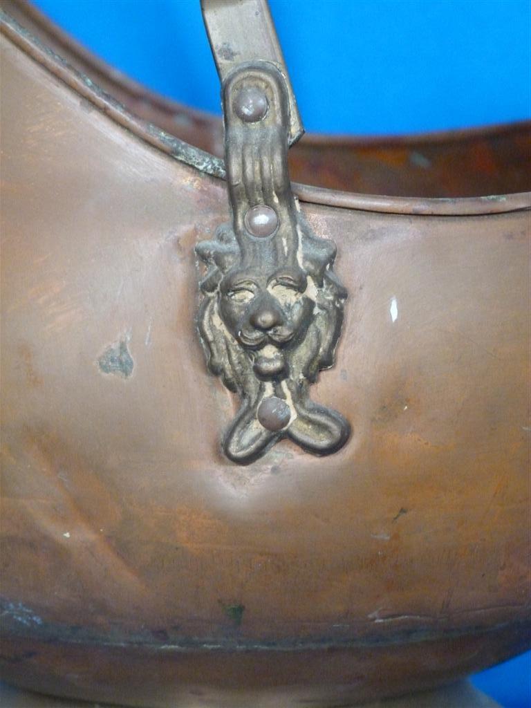 Antigua vasija de cobre bronce porcelana estilo ingles for Porcelana en ingles