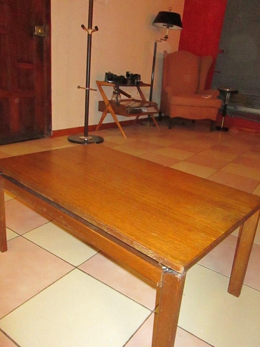 Antigua y bonita mesa de centro de eucalipto muy for Mesas de centro antiguas