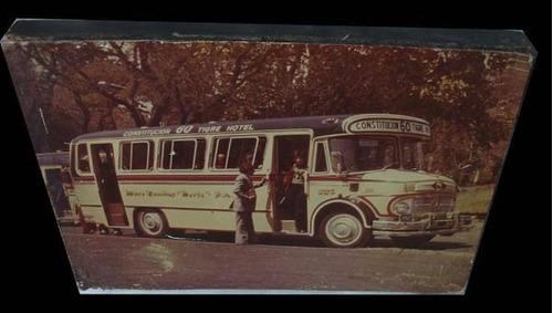 antigua y emotiva foto colectivo linea 60 original simpatica
