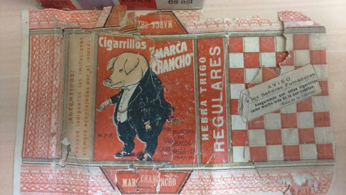 antigua y escasa cajetilla cigarros marca chancho