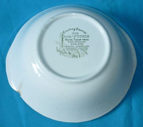 antigua y hermosa fuente porcelana inglesa sellada
