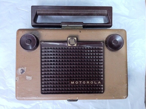 antigua y rara radio portatil motorola - usa - 1955