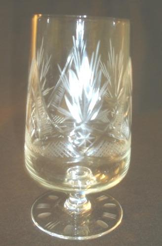 antiguas 6 copas semicristal tallado  oferton (575p)