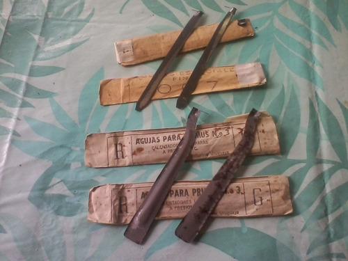antiguas agujas de primus num.3g y 007 lote x 4 unid.