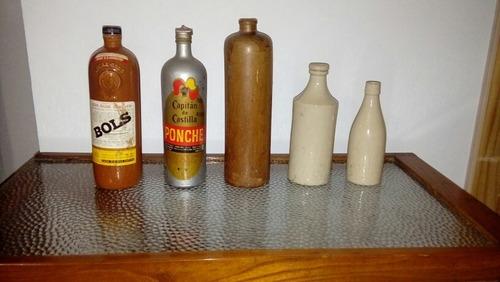 antiguas botellas de ceramica (3)precio por cada una