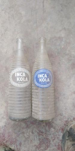 antiguas botellas de inka kola de litro