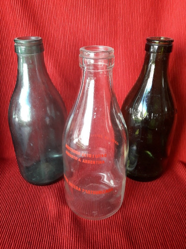 antiguas botellas de leche - precio por lote! excelentes!