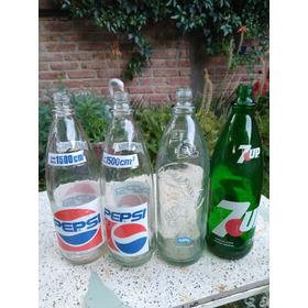 Antiguas Botellas Gaseosas,1500cc De Vidrio