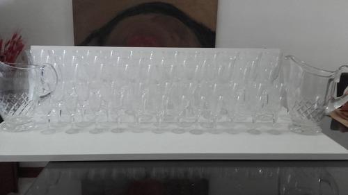 antiguas copas cristal tallado varios tamaños