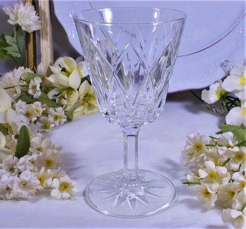 antiguas copas cristal  vino blanco 13 cm