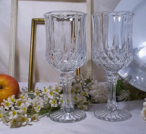 antiguas copas de vidrio para vino precio por dos