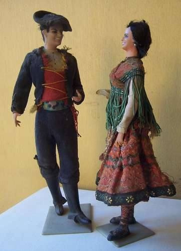 antiguas figuras bailarines españoles.
