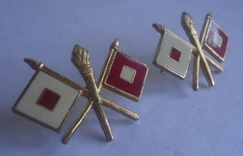 antiguas insignias americanas d comunicaciones militares 10v
