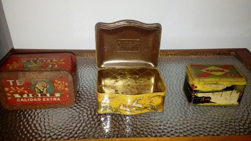 antiguas latas de chapa (3) precio por cada unidad