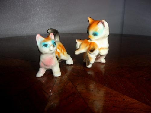 antiguas mini figuras de gatitos coleccionables impecable