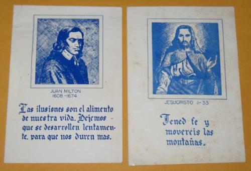 antiguas postales con frases célebres jesucristo juan milton