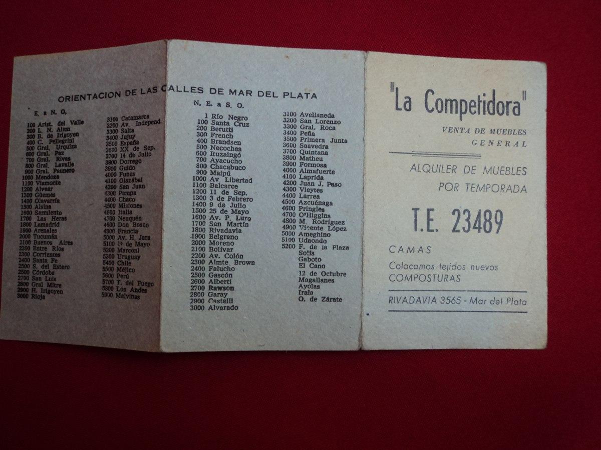 Antiguas Publicidad Folletos Hotel Muebles Mar Del Plata 150  # Muebles Rawson Mar Del Plata