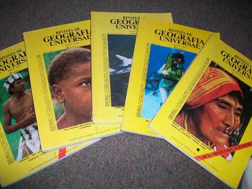 antiguas revistas de geografía universal años 70´s