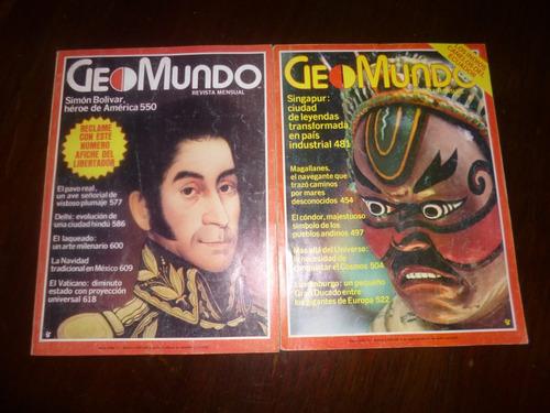 antiguas revistas geomundo 80-81, lote de 8 ejemplares