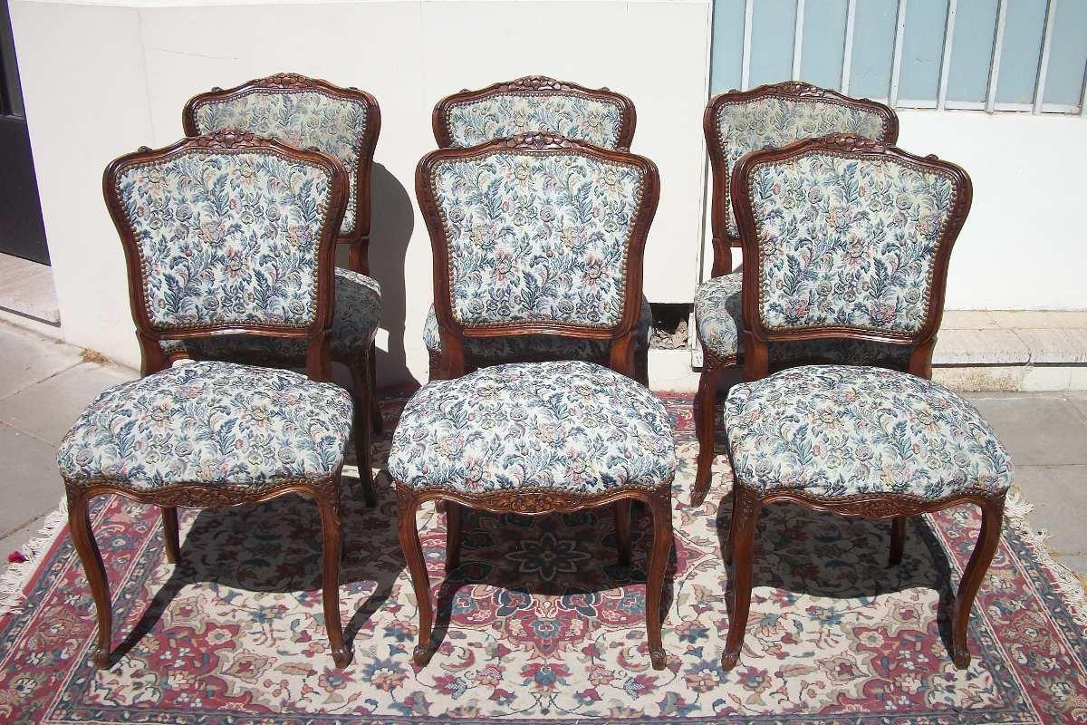 Antiguas sillas estilo luis xv frances sala living comedor for Estilos de sillas para comedor
