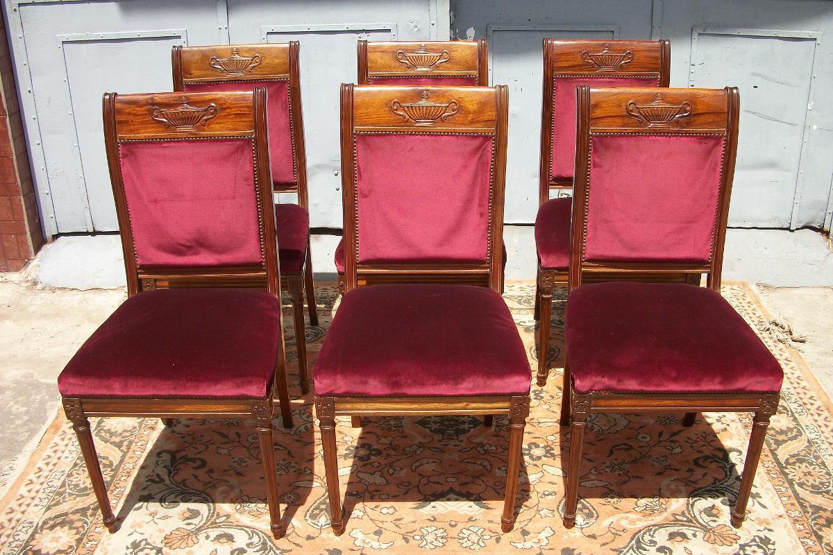 Antiguas sillas estilo luis xvi frances comedor ingles sala en mercado libre - Sillas estilo luis xvi ...