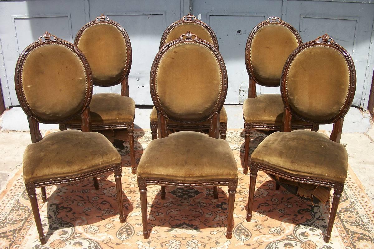 Sillas de estilo elegant sillas de estilo with sillas de estilo free grupo de seis sillas - Sillas estilo luis xvi ...