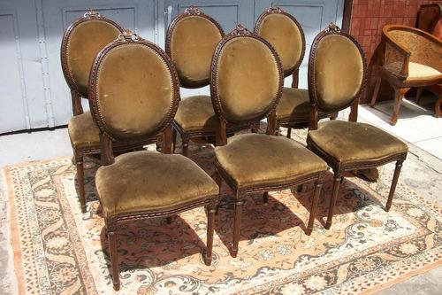 Antiguas sillas estilo luis xvi frances sala comedor living en mercado libre - Sillas estilo luis xvi ...