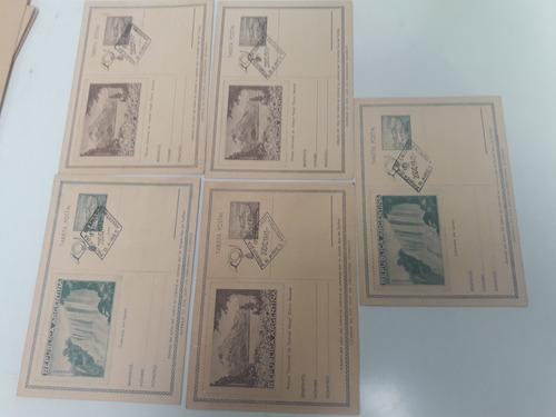 antiguas tarjetas postales argentina año 1943.