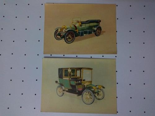 antiguas tarjetas postales edicolor autos de colección