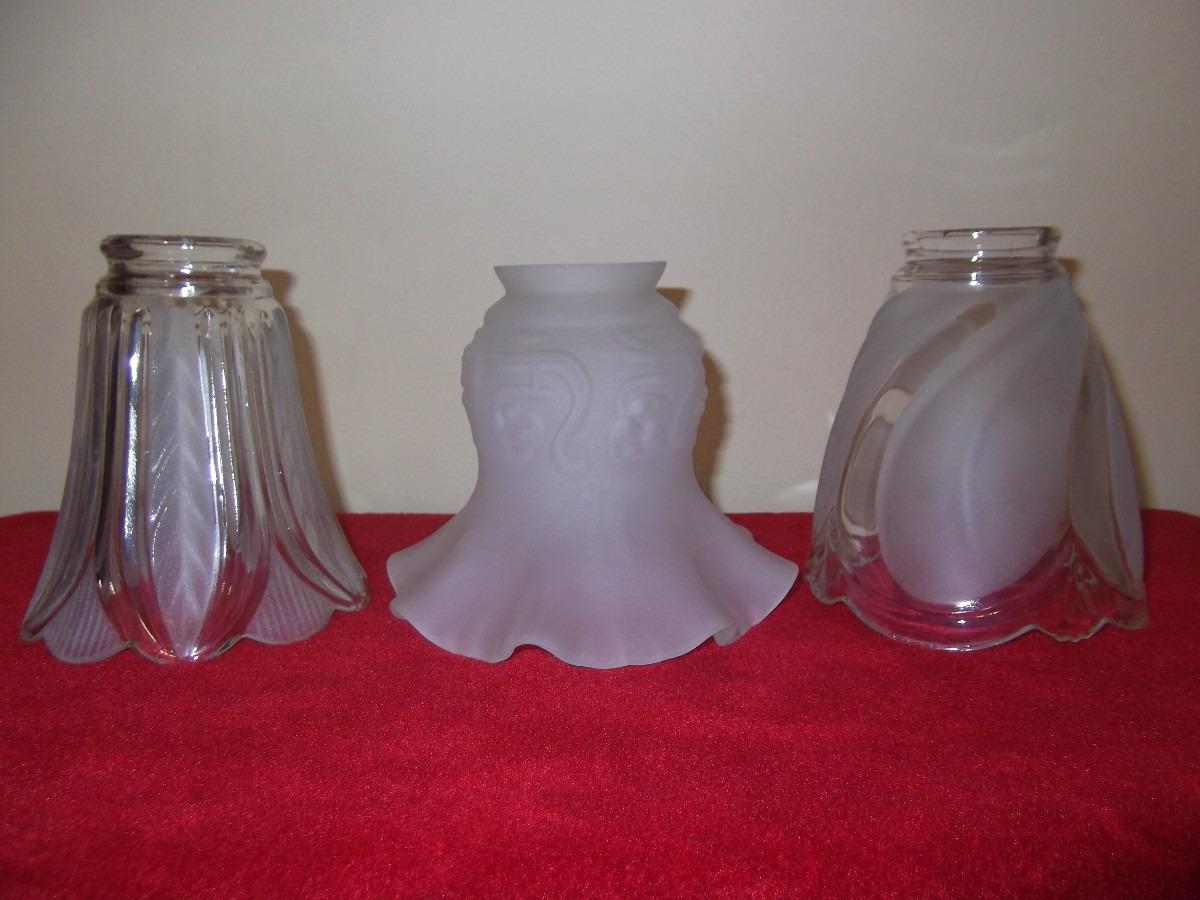 antiguas tulipas de vidrio para lampara en