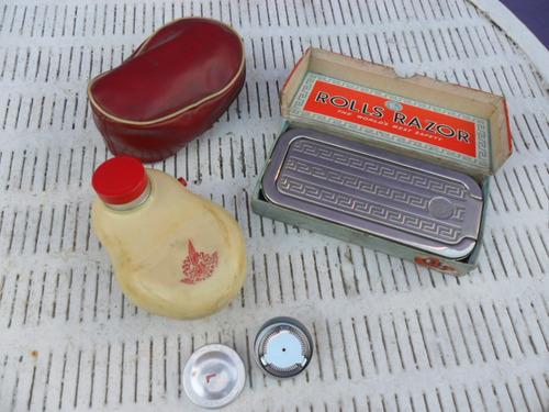 antiguas y raras maquinas de afeitar