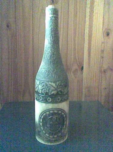 antiguedad, botella de cerámica