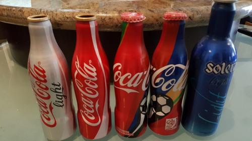 antiguedad: botellas aluminio coca-cola, mundial surafrica.