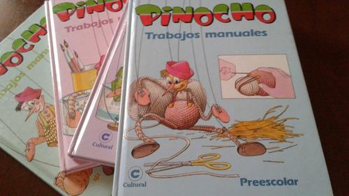 antiguedad. enciclopedia libros antiguos pinocho manualidade