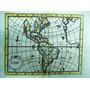 Antiguo Mapa De América Del Siglo Xviii