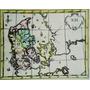 Antiguo Mapa De Dinamarca Del Siglo Xviii