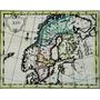 Antiguo Mapa De Los Países Nórdicos Del Siglo Xviii
