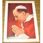 Papa Pio Xii Imagen Antigua Retrato Color En Papel
